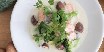 レンジで完結!ルーを使わない「ブロッコリーと白菜の簡単クリームシチュー」レシピ