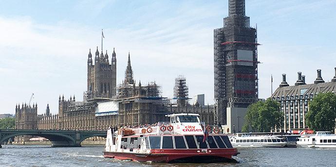 ロンドン子連れ観光スポット  テムズ川クルーズ