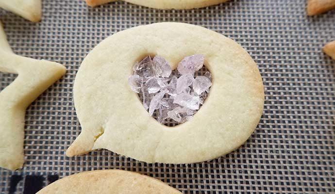 ステンドグラスクッキーの工程