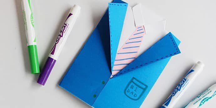 父の日のプレゼント!手作りカードでありがとうを伝えよう【簡単工作・小学生向け】
