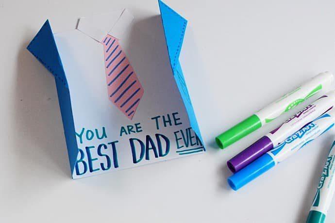 父の日の工作カード 作り方 カードを書こう!