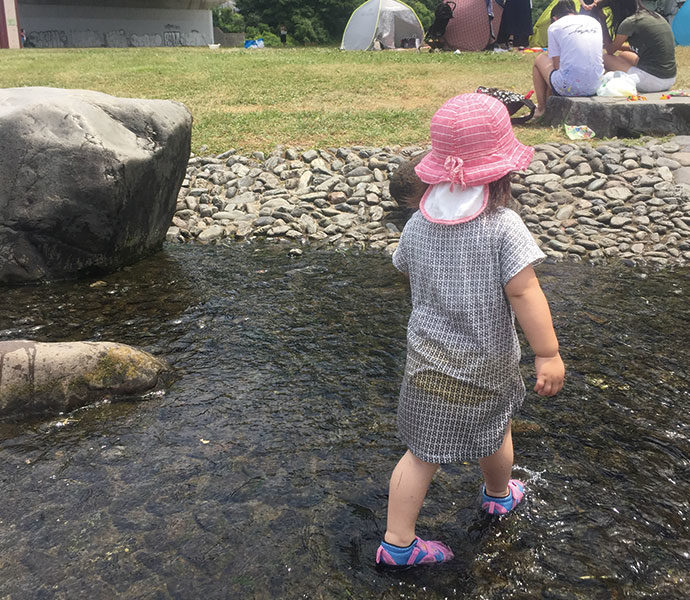 二子玉川エリアの水遊びスポット2