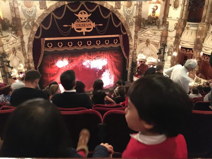 劇場内バルコニー席からの眺め