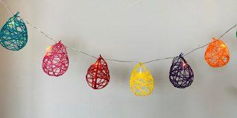 水風船を使って作るコットンボールライトでお部屋を可愛く飾ろう【親子工作】