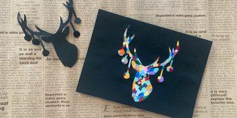 コラージュアートのカード作り!お洒落なクリスマスを演出しませんか?【簡単工作】