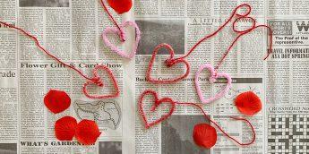 バレンタインデーにぴったり!クリスタルハートを飾ろう【簡単工作】
